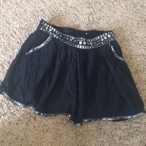 Justice black sequined skirt w shorts like new